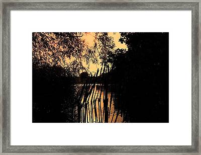 Framed Print featuring the photograph Evening Time by Keith Elliott
