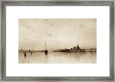 Evening,  Venice  By I Will, Pseudonym Framed Print by Vintage Design Pics