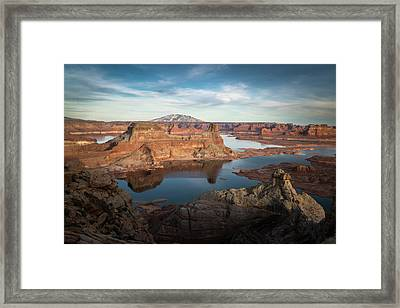 Evening View Of Lake Powell Framed Print