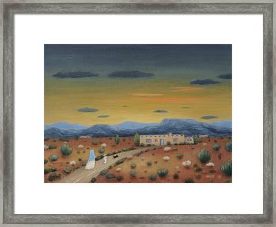 Evening Visitors Framed Print by Gordon Beck