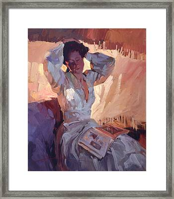 Evening Warmth Framed Print