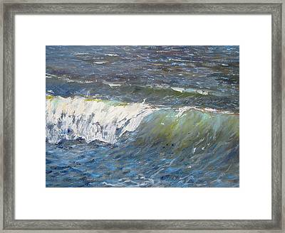 Evening Wave Framed Print by Thomas Glass Phinnessee