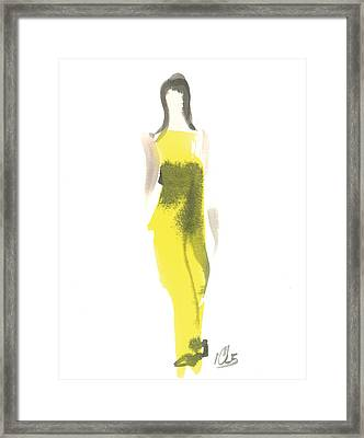 Evening Yellow Gown Framed Print
