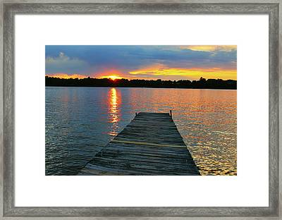 Evenings At The Cabin Framed Print