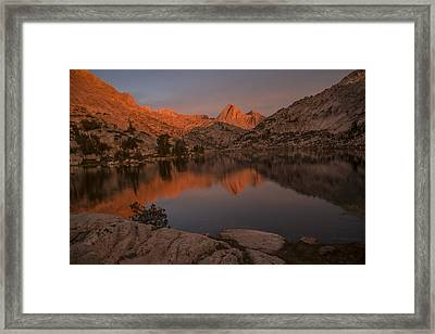 Evening's Final Glow Framed Print