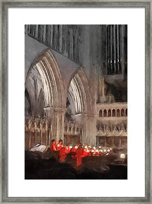 Evensong Practice At Wells Cathedral Framed Print