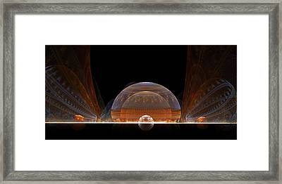 Framed Print featuring the digital art Event Horizon by Richard Ortolano