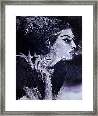 Framed Print featuring the drawing Ever Dream by Jarko Aka Lui Grande