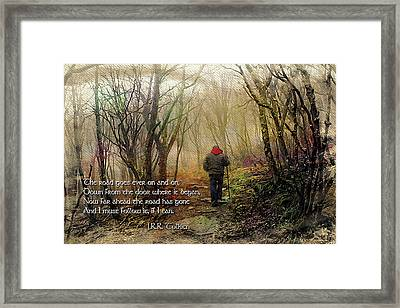 Ever On And On... Framed Print by Jessica Brawley