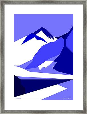 Everest Blue Framed Print
