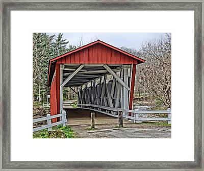 Everett Covered Bridge Framed Print by Dan Sproul