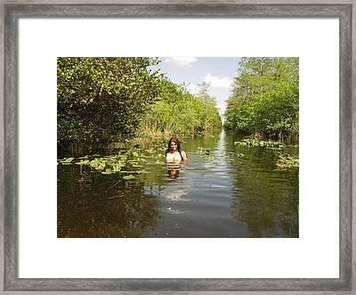 Framed Print featuring the photograph Everglades Beauty One by Lucky Cole