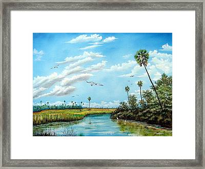 Everglades Inlet Framed Print by Riley Geddings