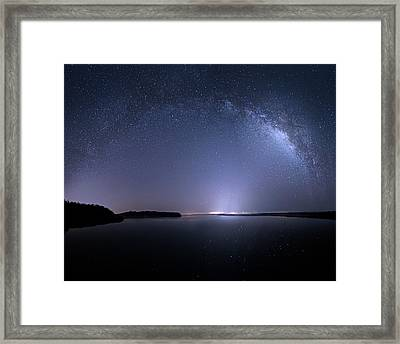 Framed Print featuring the photograph Everglades National Park Milky Way by Mark Andrew Thomas