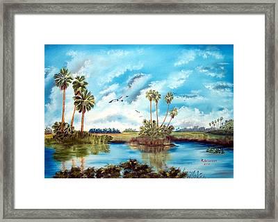 Everglades Serenity Framed Print by Riley Geddings