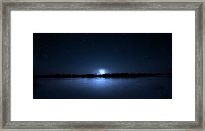 Everglades Winter Moon Framed Print