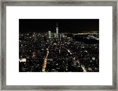 Everglow Of New York  Framed Print