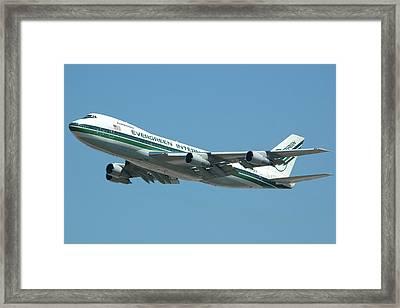 Evergreen International 747-273c N470ev At San Bernardino May 31 2006 Framed Print by Brian Lockett