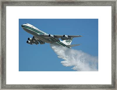Evergreen International 747-273c Supertanker Framed Print by Brian Lockett