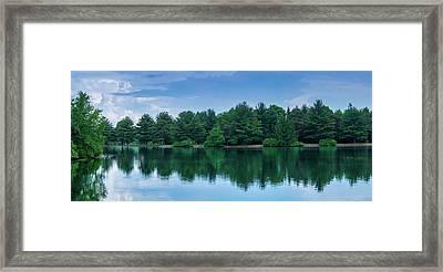 Evergreen Lake Reflections Framed Print
