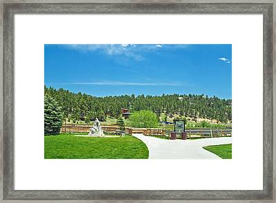 Evergreen Lake Framed Print by Richard Risely