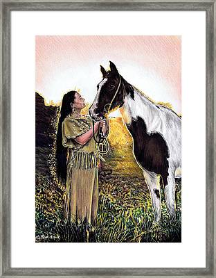 Everlasting Love A Maiden And Spot Framed Print