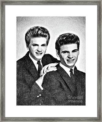 Everly Brothers, Music Legends By Js Framed Print