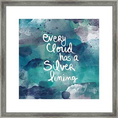 Every Cloud Framed Print by Linda Woods