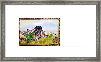 Every Dog Has Its Day Framed Print by Emmanuel Nwogbo