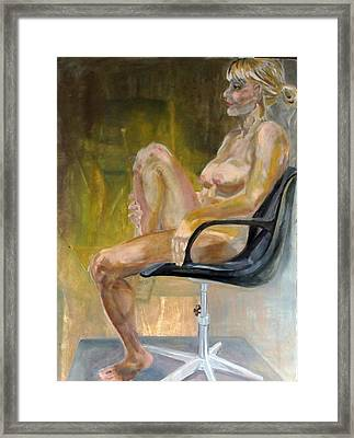Every Empty Chair Has It's Own Ghost   Framed Print by Irene Vital