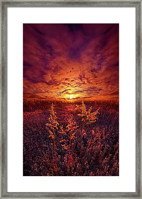 Framed Print featuring the photograph Every Sound Returns To Silence by Phil Koch