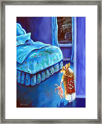 Every Super Hero Has A Moment Framed Print by Lyn Cook