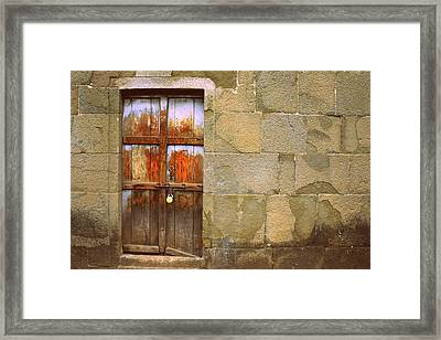 Every Wall Is A Door Framed Print