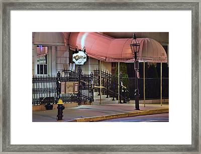 Everybody Knows Your Name At Cheers Framed Print by Frozen in Time Fine Art Photography