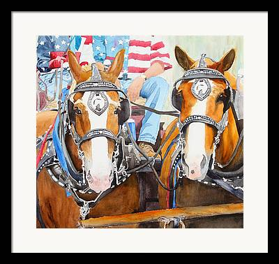 Carriage July 4th Framed Prints