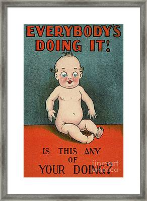Everybody's Doing It, Is This Any Of Your Doing Framed Print by English School