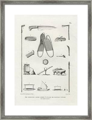 Framed Print featuring the drawing Everyday Items On Guam And Mariannas by dApres Duperrey