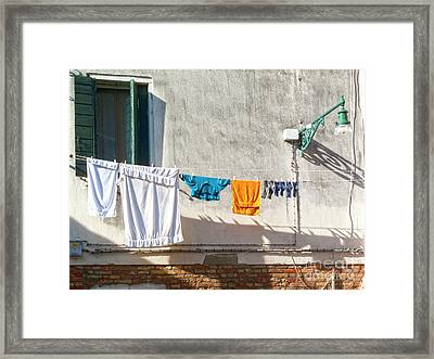 Everyday Life In Venice Framed Print by Heiko Koehrer-Wagner
