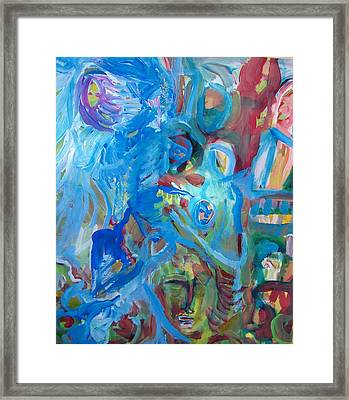 Everyone Everywhere Framed Print by Judith Redman
