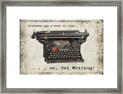 Everyone Has A Book In Them . . .  Framed Print