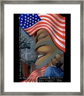 Framed Print featuring the painting Everything Changes In A New York Minute by Karen Musick
