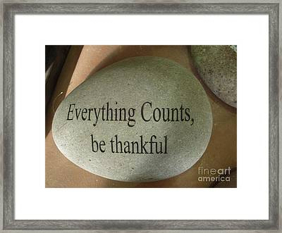 Everything Counts Framed Print by Deborah Finley