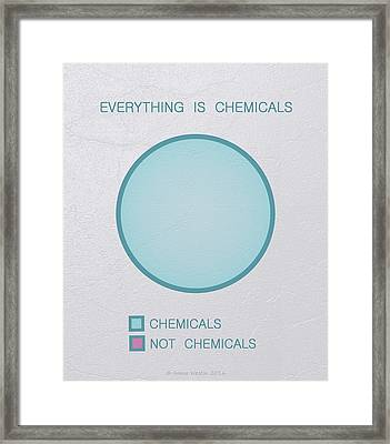 Everything Is Chemicals Framed Print by Ivana Westin