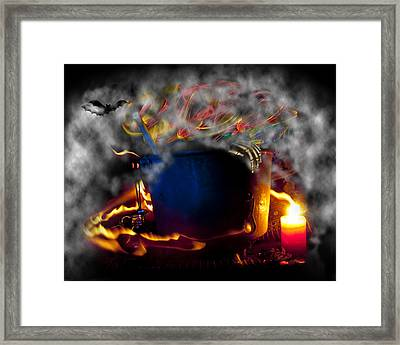 Everything Is Coming Out To Play Framed Print by Barbara  White