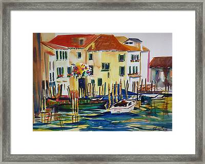 Everything Venice Framed Print by Therese Fowler-Bailey