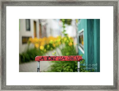 Everything Will Be Fine Framed Print by Juergen Klust