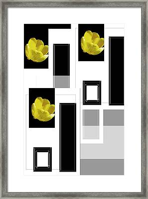 Everything Yellow White Black Framed Print