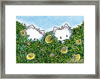 Everythings Coming Up Westies Framed Print by Kim Niles