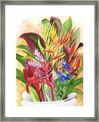 Everywhere There Were Flowers Framed Print