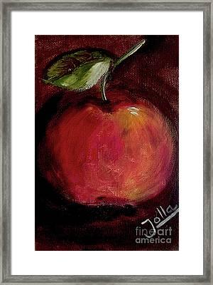 Eve's Apple.. Framed Print